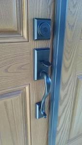 Residential deadbolt lock handle set