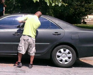 Our technician is unlocking a car in the Clifton, OH 45220 area in Cincinnati.