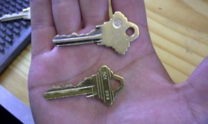 This is how the old key looks like compare to a new one