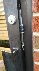 Here is the latch cannot close the door all the way and needed to cut the right size on the frame door to install the metal plate for it, so it can close smoothly.