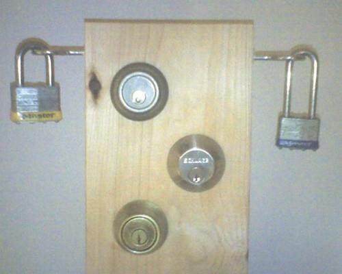 Deadbolt locks and  padlocks for storage